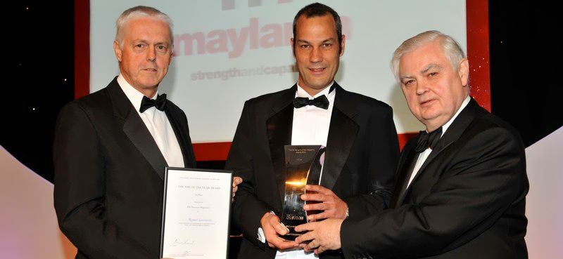 Receiving a Thames Valley Business Award