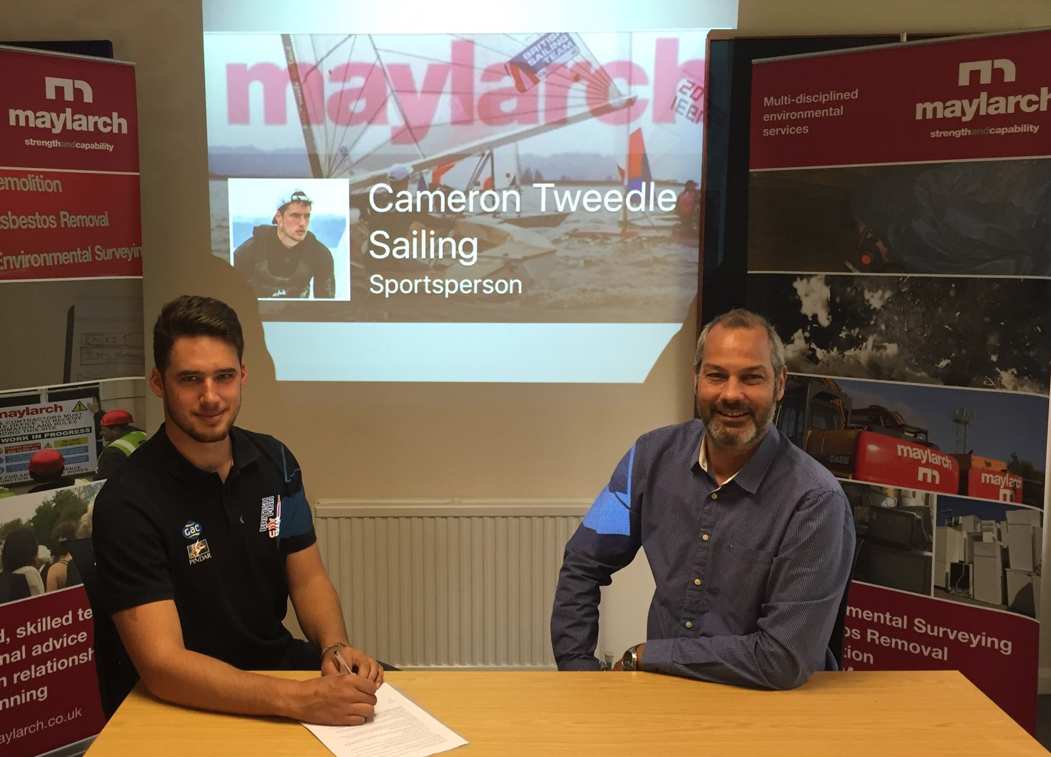 Maylarch commits to Cameron Tweedle sailing