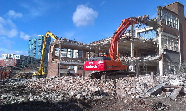 Demolition Excavator on London site